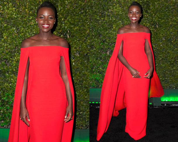 LUPITA NYONG'O in RALPH LAUREN - 71st ANNUAL GOLDEN GLOBES AWARDS 2014