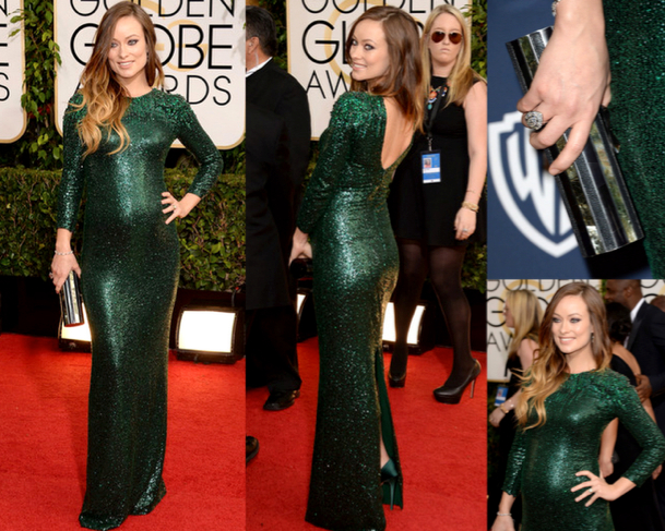 OLIVIA WILDE in GUCCI PREMIÈRE - 71st ANNUAL GOLDEN GLOBES AWARDS 2014