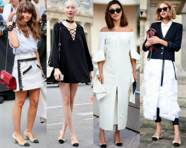 Chanel Slingback Street Style