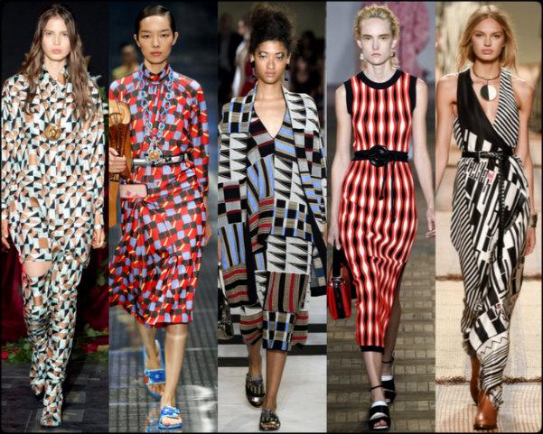 geometric prints, tendencias primavera-verano 2017, tendencias, tendencias milan fashion week, milan fashion week, trends spring 2017, trends milan fashion week, trends