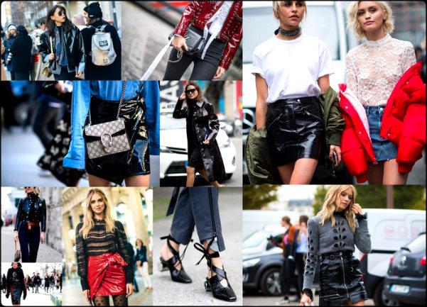 Resultado de imagen para vinyl and patent leather coats fashion week 2017