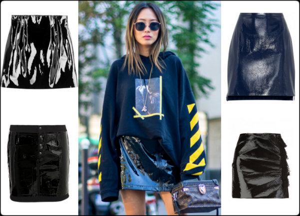 shopping, vinyl skirt, faldas charol, fashion weeks, charol, vinyl, isabel marant, isabel marant fall 2016, isabel marant otoño 2016, tendencias, trends, charol trend